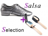 Portdance PD Casual 001 Zilver Salsa Selection met Nubuck Zool