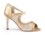 Portdance PD504 Tango Gold Leather Glitter