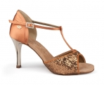 Portdance PD600 Fashion Dark Tan Satin Sequin
