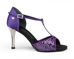 Portdance PD600 Fashion Purple Satin Sequin