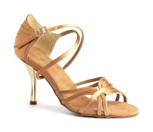 Portdance PD410 Fashion Dark Tan Satin