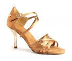 Portdance PD400 Fashion Dark Tan Satin