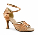 Portdance PD137 Premium  Dark Tan Satin