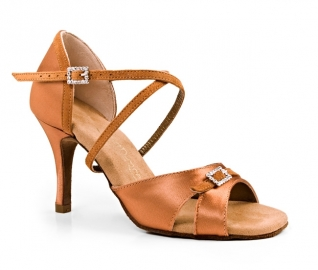 Portdance PD135 Premium Dark Tan Satin