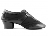 Portdance PD013 Pro Premium Black Lycra Leather Heel 45