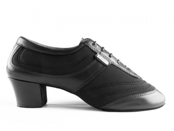 Portdance PD013 Pro Premium Black Lycra Leather Heel 50