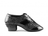 Portdance PD Diamond Black Patent Glitter