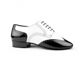 Portdance PD042 Tango Black White Patent