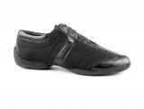 Portdance PD Pietro Premium Sneaker Sole Black Lycra Leather